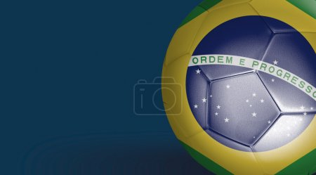 Amazing Soccer ball with Brazil flag