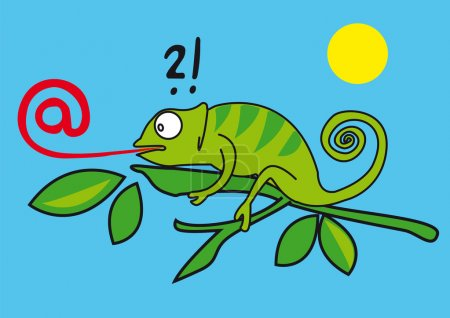 Chameleon,Web,AT sign,e-mail,internet,network,address e-mail,box e-mail, communication,initials,symbol,logo,sign,language, tongue,gecko,lizard,reptile, humor,message,media,computing,concept,cute,