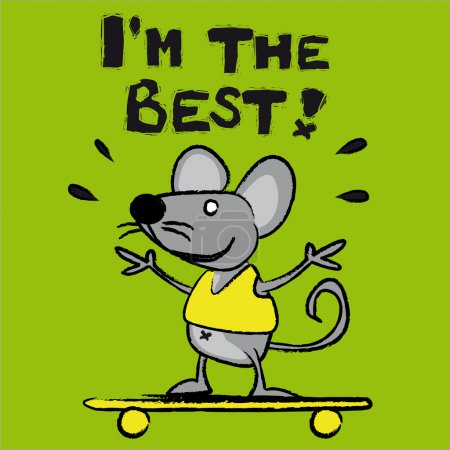 Illustration for Mouse sportsman - Royalty Free Image
