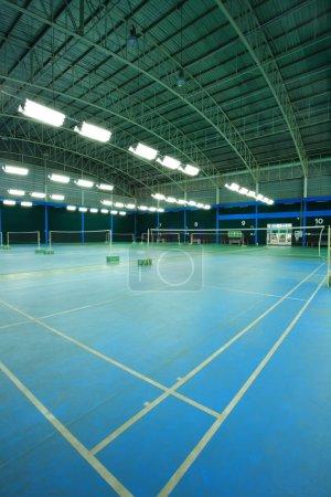 Photo pour Terrain de badminton - image libre de droit