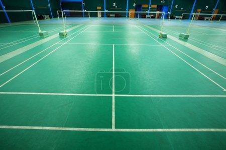 Photo pour Cour de badminton - image libre de droit