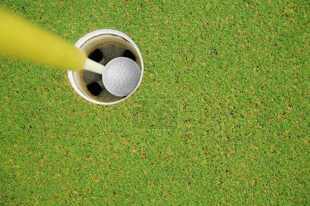 Foto de Hoyo de golf en uno - Imagen libre de derechos