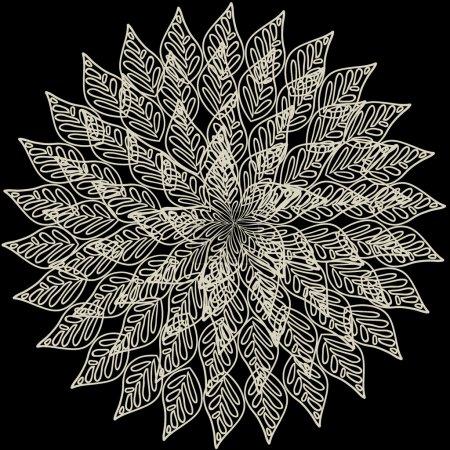 ornamentale runde Spitzenmuster