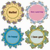 Sada pozvánky s květy, doodle
