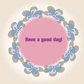 Pozvánka s květy, doodle