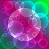 Abstraktní barevné pozadí s bublinkami a místo pro text