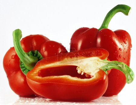 Three red pepper