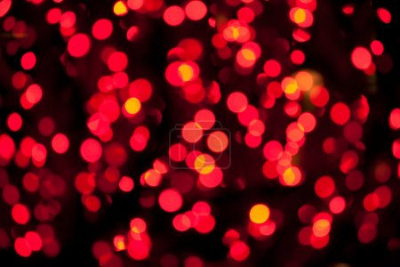 red blurred lights