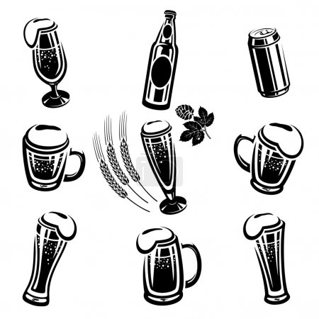 Illustration for Beer Set - Royalty Free Image