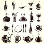 Restaurant elements set...