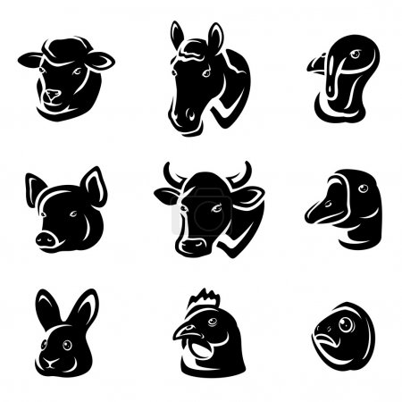 Illustration pour Animaux de ferme prêts. Vecteur - image libre de droit