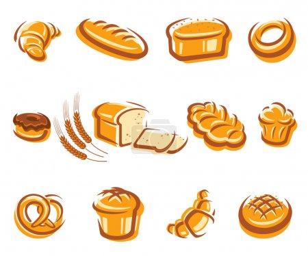 Illustration pour Set de pain. Vecteur - image libre de droit