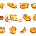 Bread set. Vector...