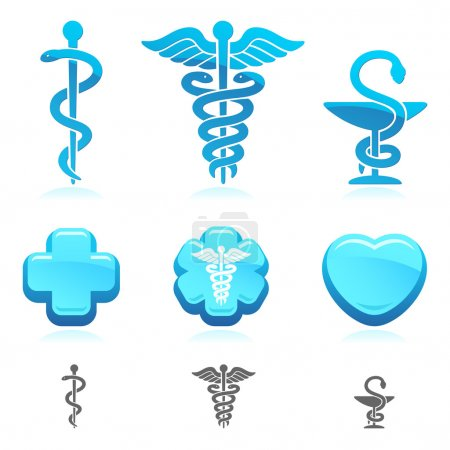 Illustration for Medical symbol set. Vector - Royalty Free Image