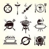 Grill elements set Vector