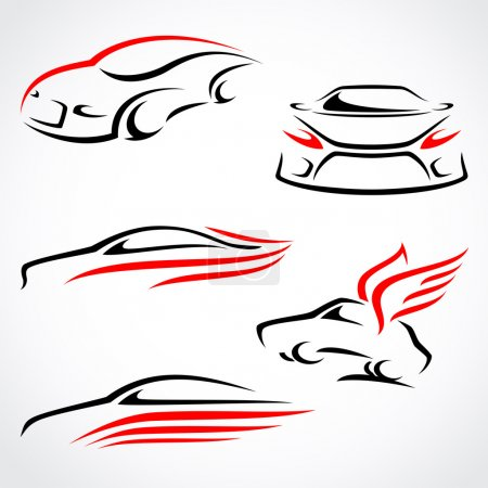 Cars abstract set