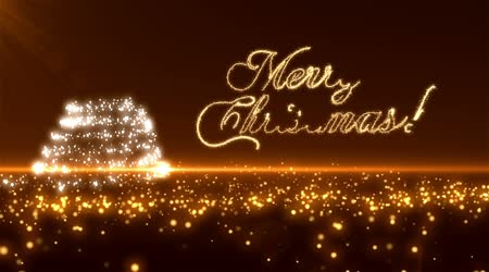 Gold Christmas Tree Background Loopable