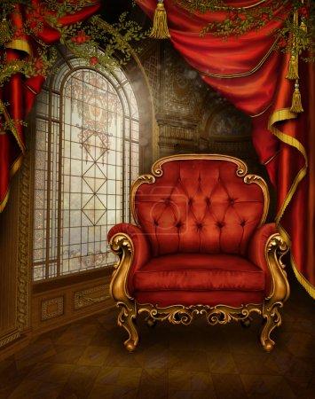 Red vintage room