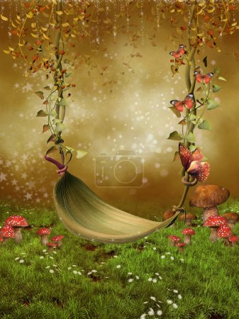 Fantasy leaf swing
