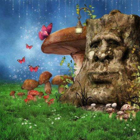 Enchanted fantasy tree