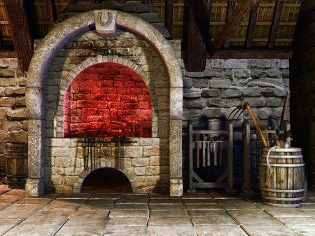Blacksmith's furnace