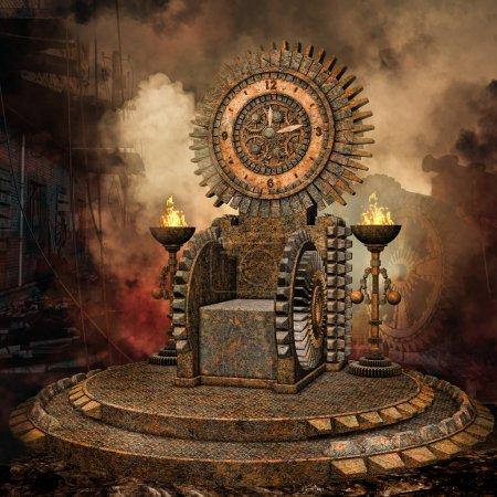 Clock throne