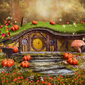 Colorful fairytale cottage