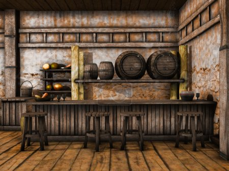 Old tavern counter
