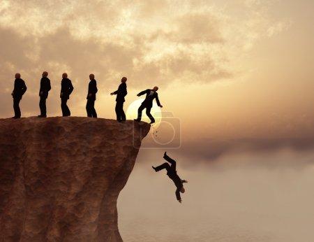 Men on a cliff