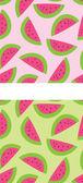 Two Seamless Watermelon Patterns