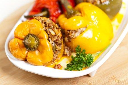 Foto de Pimientos rellenos de carne y arroz - Imagen libre de derechos