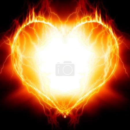 Photo pour Coeur en feu - image libre de droit