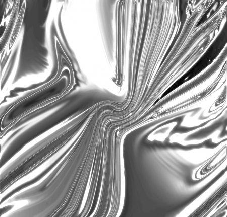 Photo pour Argent fond métallique avec des reflets doux en elle - image libre de droit