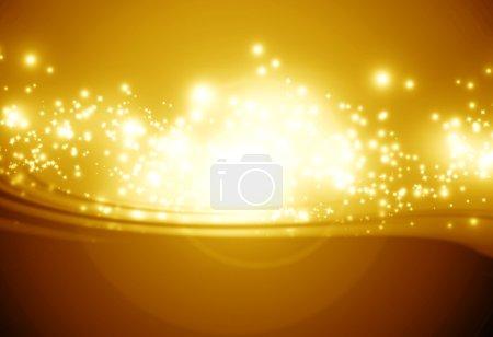 Photo pour Fond brillant doré avec des étincelles brillantes intenses et des paillettes - image libre de droit