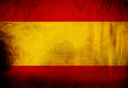 Photo for Spanish flag waving in the wind - Royalty Free Image