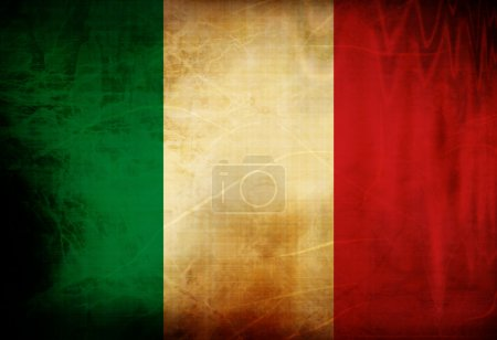 Italian flag waving in the wind...