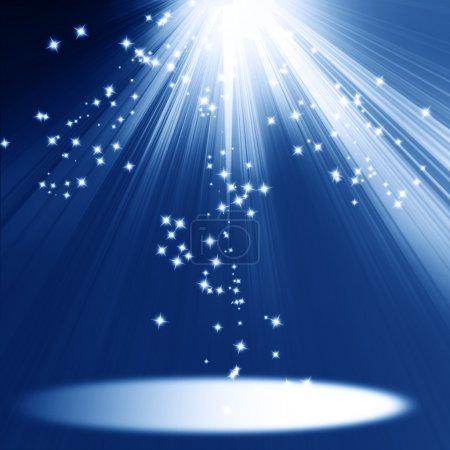 Photo pour Lumières de scène avec espace pour un objet ajouté - image libre de droit