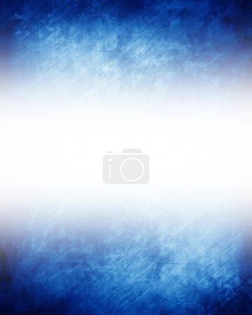 Photo pour Fond bleu avec des nuances douces et des reflets - image libre de droit