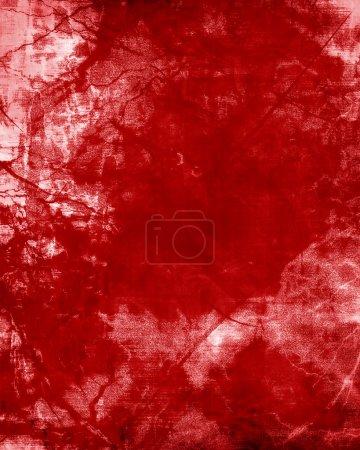 Photo pour Fond rouge avec quelques nuances et surface endommagée - image libre de droit