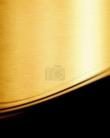 Photo pour Plaque métallique brossée avec lumière réfléchie - image libre de droit