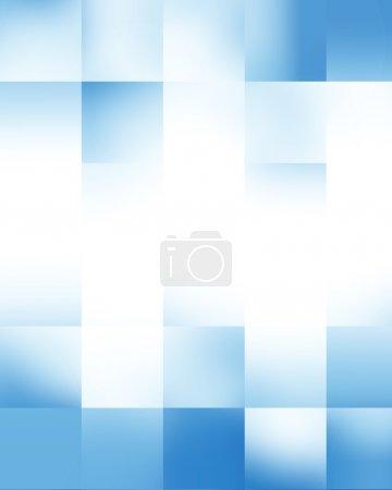 Photo pour Bleu rectangulaire lumineux blocs fond avec quelques reflets doux - image libre de droit