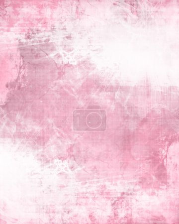 Photo pour Texture de fond rose avec quelques taches et effets de grunge - image libre de droit