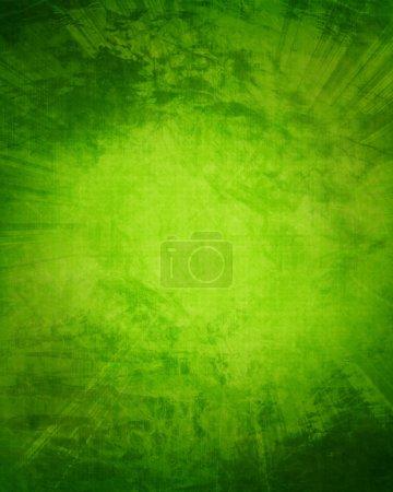 Photo pour Fond vert et frais avec des reflets doux et des lignes - image libre de droit