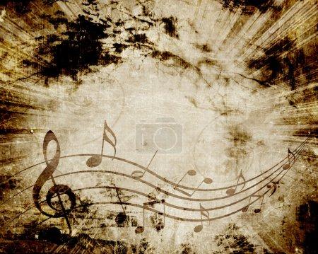 Photo pour Partition ancienne avec notes de musique - image libre de droit