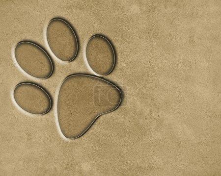 Photo pour Texture de fond de sable avec du grain fin dedans - image libre de droit