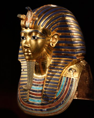 Replica of the burial mask of tut ankh amon...