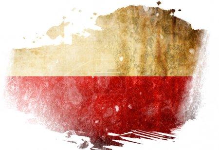 Photo pour Drapeau polonais avec quelques effets de grunge et lignes - image libre de droit