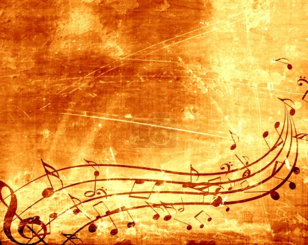 Photo for Old paper texture with some music notes on it - Royalty Free Image
