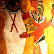 Egyptian wall paintings inside of the pyramids (re...
