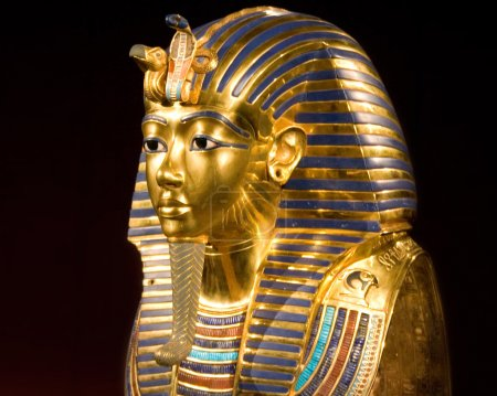 Replica of the mask of tut ankh amon...